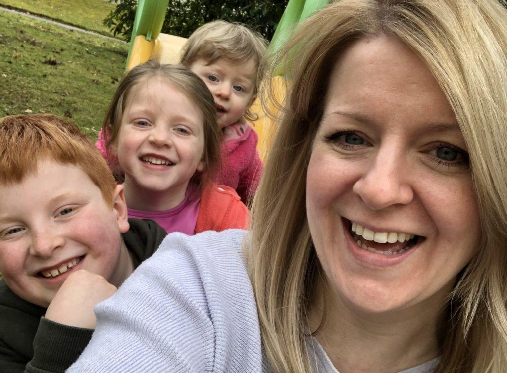 Rowan and her three children